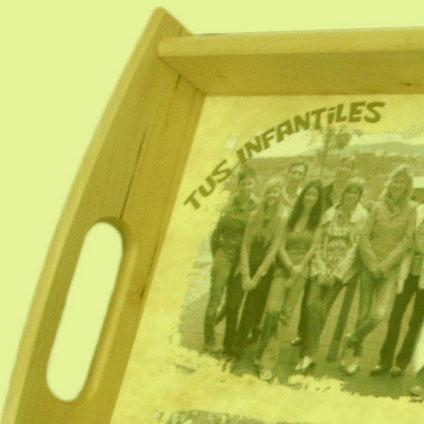 bandeja madera personalizada con foto