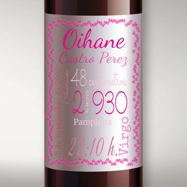 Etiqueta vino bautizo personalizada